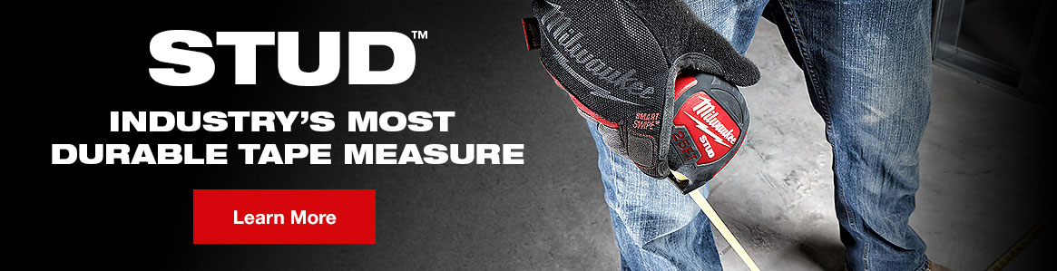 STUD - Industry's Most Durable Tape Measure.
